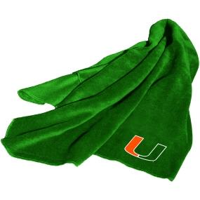Miami Hurricanes Fleece Throw Blanket