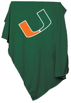 Miami Hurricanes Sweatshirt Blanket