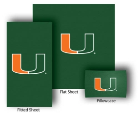Miami Hurricanes Full-Queen Size Sheet Set
