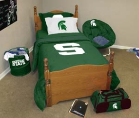 Michigan State Spartans Queen Size Bedding In A Bag