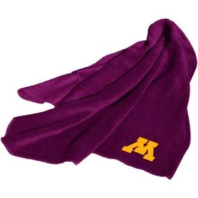 Minnesota Golden Gophers Fleece Throw Blanket