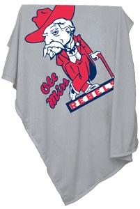 Mississippi Rebels Sweatshirt Blanket