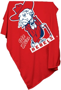 Mississippi Rebels Sweatshirt Blanket