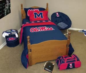Mississippi Rebels Twin Size Bedding In A Bag