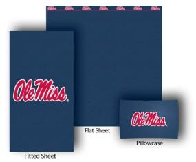 Mississippi Rebels Twin Size Sheet Set
