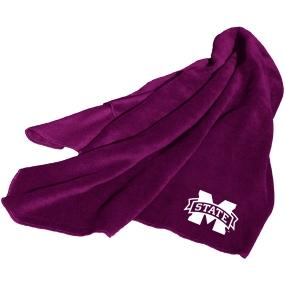 Mississippi State Bulldogs Fleece Throw Blanket