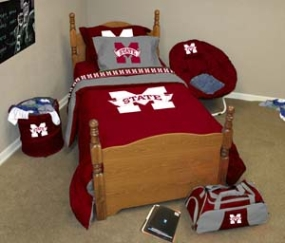 Mississippi State Bulldogs Twin Size Bedding In A Bag