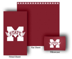 Mississippi State Bulldogs Full-Queen Size Sheet Set
