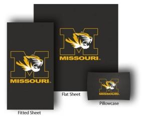 Missouri Tigers Full-Queen Size Sheet Set