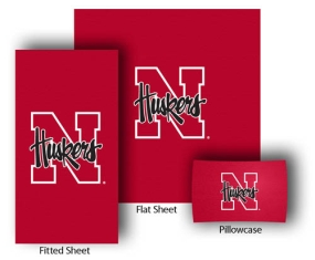 Nebraska Cornhuskers Full-Queen Size Sheet Set