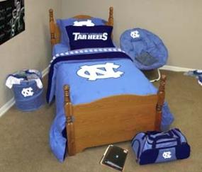 North Carolina Tar Heels Queen Size Bedding In A Bag