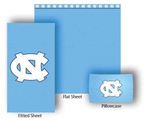 North Carolina Tar Heels Full-Queen Size Sheet Set