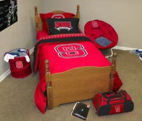 N.C. State Wolfpack Queen Size Bedding In A Bag
