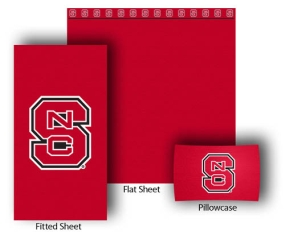 N.C. State Wolfpack Twin Size Sheet Set