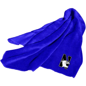 Northwestern Wildcats Fleece Throw Blanket