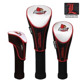 Louisville Cardinals Set of 3 Golf Club Headcovers