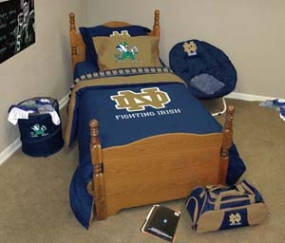 Notre Dame Fighting Irish Twin Size Bedding In A Bag