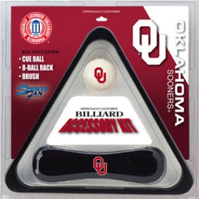 Oklahoma Sooners Billiard Accessory Kit
