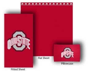 Ohio State Buckeyes Full-Queen Size Sheet Set