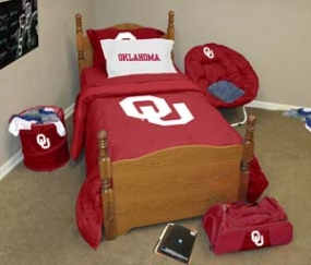 Oklahoma Sooners Twin Size Bedding In A Bag