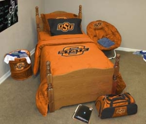 Oklahoma State Beavers Queen Size Bedding In A Bag