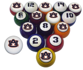 Auburn Tigers Billiard Balls