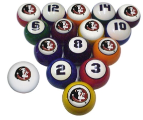 Florida State Seminoles Billiard Balls
