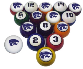 Kansas State Wildcats Billiard Balls