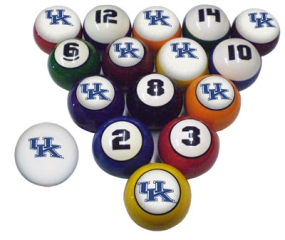 Kentucky Wildcats Billiard Balls