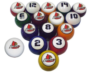 Louisville Cardinals Billiard Balls