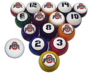 Ohio State Buckeyes Billiard Balls