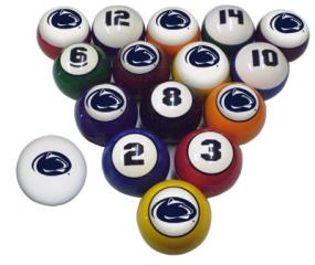 Penn State Nittany Lions Billiard Balls