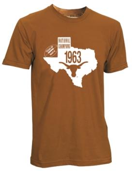 1963 Texas Longhorns Vintage T-shirt