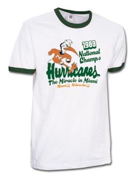 1983 Miami Hurricanes (Sebastian) Vintage T-shirt
