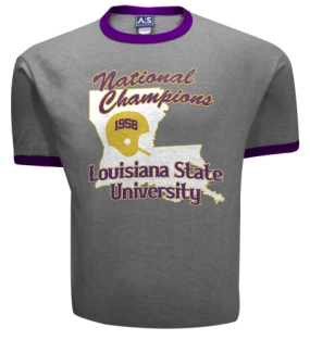 1958 LSU Tigers Vintage T-shirt