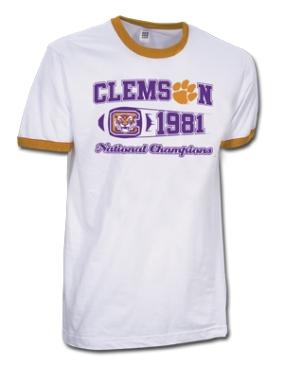 1981 Clemson Tigers Vintage T-shirt