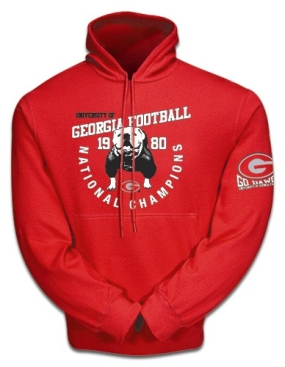 Champions Again 1980 Georgia Bulldogs Hooded Sweatshirt