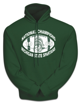 Champions Again 1965 Michigan State Spartans Hooded Sweatshirt