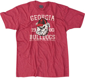 1980 Georgia Bulldogs Vintage T-shirt