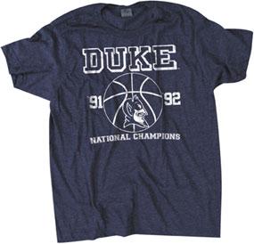 1991-1992 Duke Blue Devils Vintage T-shirt