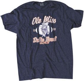 """1948 Ole Miss Rebels """"Delta Bowl"""" Vintage T-Shirt"""