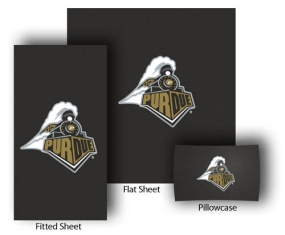 Purdue Boilermakers Twin Size Sheet Set