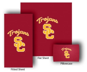 USC Trojans Full-Queen Size Sheet Set