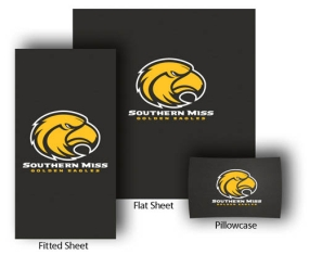 Southern Miss Golden Eagles Full-Queen Size Sheet Set