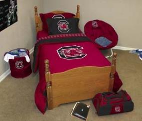 South Carolina Gamecocks Queen Size Bedding In A Bag