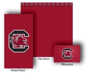 South Carolina Gamecocks Full-Queen Size Sheet Set