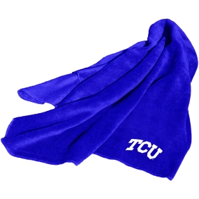 TCU Horned Frogs Fleece Throw Blanket