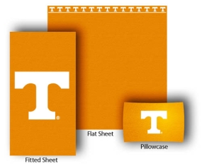 Tennessee Volunteers Twin Size Sheet Set