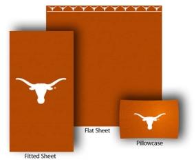 Texas Longhorns Full-Queen Size Sheet Set
