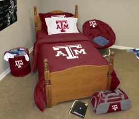 Texas A&M Aggies Twin Size Bedding In A Bag
